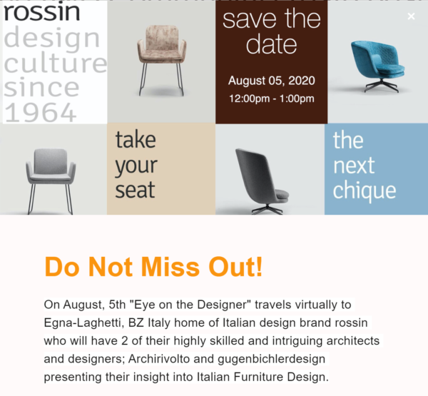 Dino+associates | Rossin |meet the Designers
